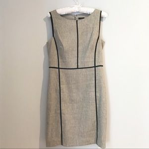Ann Taylor Grey Linen Dress Size 2